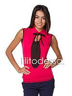 Блуза трикотажная красный