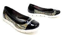 Мега удобные женские туфли, балетки со змеиным принтом