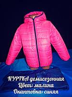 Демисезонная куртка на девочку 4026 (рост: 98,104,110,116)