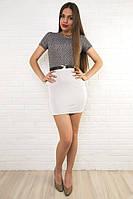 Короткие женские платья с разноцветными юбками