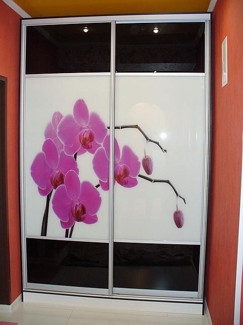 Шкаф-купе с рисунком орхидеи - «МЕБЕЛЬ ВАЛЕНТИНА» в Харькове
