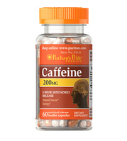 Энергетик Puritan's Pride Caffeine 200 мг 60 капс