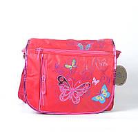 Модная молодёжная сумка через плече для девочки, с бабочкой - Код 1511 - красная
