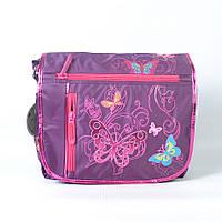 Модная молодёжная сумка через плече для девочки, с бабочкой - Код 1511 - фиолет
