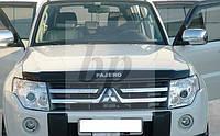 Дефлектор капота (мухобойка) Mitsubishi pajero wagon IV (митсубиси паджеро вагон 4) 2005г+