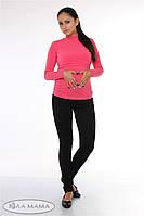 Брюки-лосины для беременных  Sinta теплые, из плотного трикотажа с начесом, черные