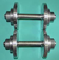Гантелі точені на токарному станку загальна вага 20 кг./пара