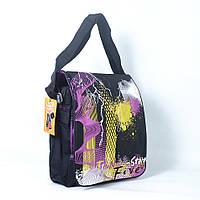 """Модная молодёжная вертикальная сумка через плече """"Шторм - Молния"""" - Код L10"""