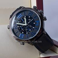 Часы мужские каучуковые черные с синим V6 Super Speed Blue