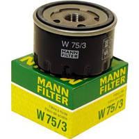 Масляный фильтр накручиваемый Nissan Kubistar 1.5dCi /1.6 16V-03>  Kangoo1.6-2008-> MANN-FILTER-W75/3-Германия