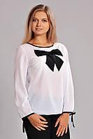 Нарядная женская блуза с бантом