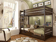 """Двухъярусная кровать """"Дует"""" из дерева (ЩИТ бука)"""