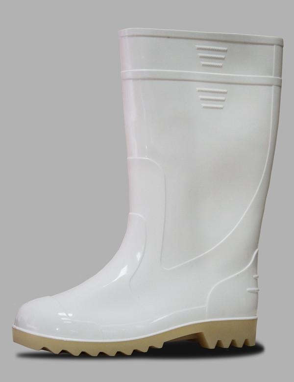 Белые резиновые мужские сапоги
