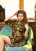 Женский домашний халат на запах Гепард