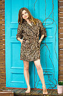 Женский домашний халат Caroline - тигр