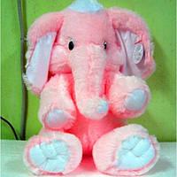Розовый слоник мягкая игрушка