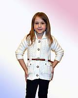 Детский кардиган с ремешком для девочки (Б,О,Л)