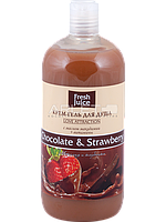 Крем-гель для душа (Шоколад и Клубника) - Fresh Juice Love Attraction Chocolate & Strawberry 500ml