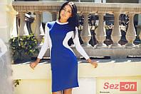 Платье женское трикотажное Силуэт - Синий