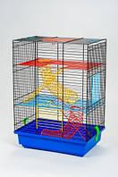 INTER-ZOO G020 Клетка для грызунов TEDDY II (цветная) + Пружины 360*240*540