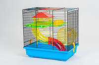 Клетка для хомяка TEDDY I BLACK + TUBE (360*240*360) Inter-Zoo.