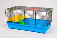 Клетка для хомяка Pigi 1 укомплект. (50х28х25см) крашеная черная Inter-Zoo.