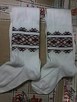 Колготы для деток белые с украинским орнаментом на рост 98-104см
