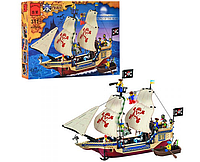 Конструктор BRICK 311 пиратский корабль, Король морей,  486 дет