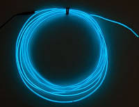 Холодный неон, синий электролюминисцетный провод 3-го поколения 2,6 мм,(розница, опт)