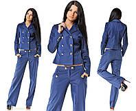 Костюм темно-синий Пуговки пиджак и брюки