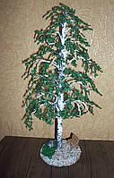 """Сувенир подарок дерево """"Береза"""" из бисера"""