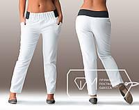 Батальные женские брюки с черным поясом