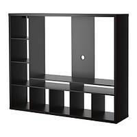 """IKEA """"ЛАППЛАНД"""" Шкаф для ТВ, черно-коричневый"""