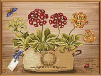 Набор для вышивания бисером и нитками Цветы весны