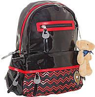 Рюкзак молодежный Оксфорд (Oxford) черно-красный 552010/ Х088