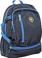 Рюкзак молодежный Оксфорд (Oxford) черно- голубой 552374/ ХО99