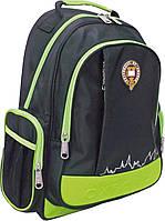 Рюкзак молодежный Оксфорд (Oxford) черно-зеленый 552379/ Х102