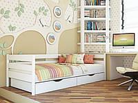 """Односпальная кровать """"Нота"""" из дерева (массив и щит бука)"""