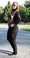 Модный осенний спортивный костюм (трикотаж + стежка)