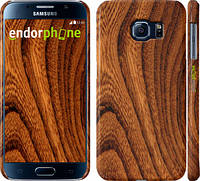 """Чехол на Samsung Galaxy S6 G920 Тёмно-коричневое дерево """"1107c-80"""""""
