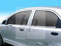 Молдинг стекла (стекольный хром) Chevrolet aveo T250 (шевроле авео т250) 2005-2011