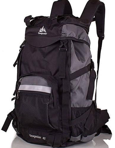 Трекинговый рюкзак для мужчин 45 л. ONEPOLAR (ВАНПОЛАР) W301-grey серый