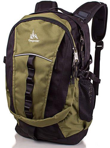 Стильный удобный городской рюкзак 25 л. Onepolar (Ванполар) W1300-green зеленый