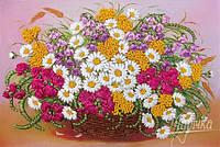 Набор для вышивки лентами Цветики степные НЛ-3033