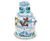 Торт из памперсов Морской