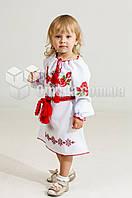 Вышитое платье с цветочным узором Зоряна детское