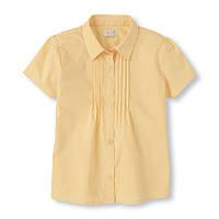 Детская школьная желтая блуза для девочки, на рост 133-147 см. (арт.3681)