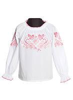 Вышитая рубашка для девочки (размеры 134-158)