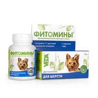 Фитоминыс фитокомплексом для шерсти для собак, 100таб., (Веда)