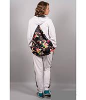 Оригинальный спортивный костюм со вставками в цветы Pазмеры:  46, 48, 50, 52